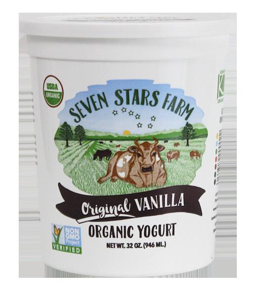 Organic Vanilla Seven Stars Yogurt
